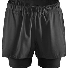 Craft ADV Essence Shorts 2-en-1 Elásticos Hombre, black